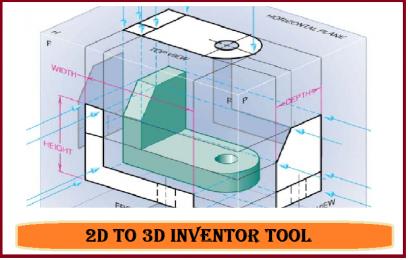 تبدیل نقشه سه نما به فایل سه بعدی۲DTO3DINVENTOR