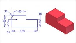 Learn_2) ایجاد سوراخ در دو راستا و پارامتر Extend Start برای ابتدای سوراخ