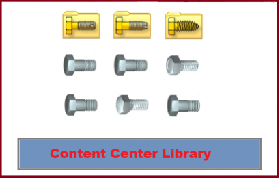 قطعات استاندارد مرکز محتویات  (Content Center Parts)