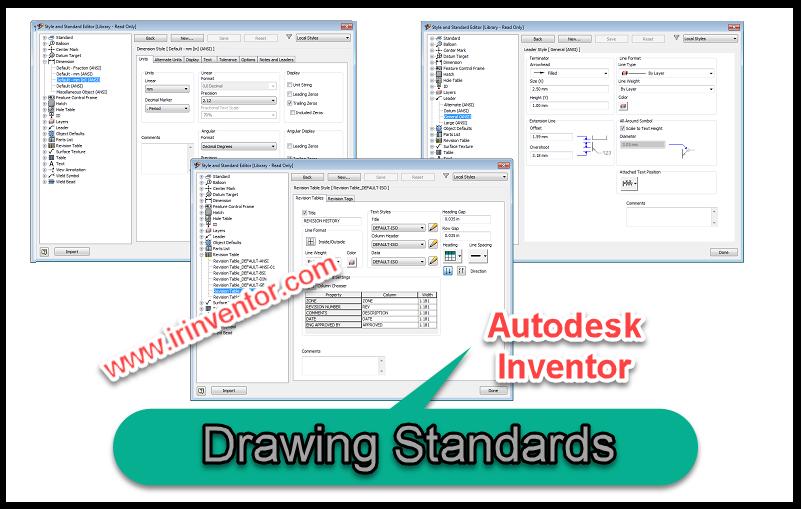 استانداردهای نقشه کشی و نرم افزار اتودسک اینونتور